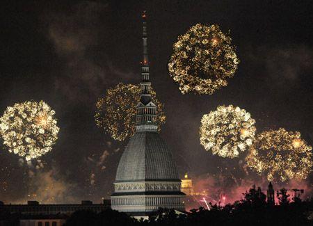 fuochi d'artificio a Torino
