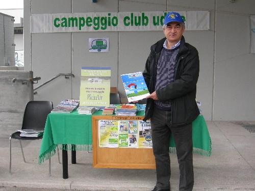 il Presidente del Club Gianni Palezza a Pollice Verde