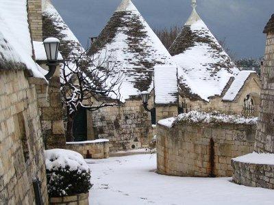 Alberobello sotto la neve